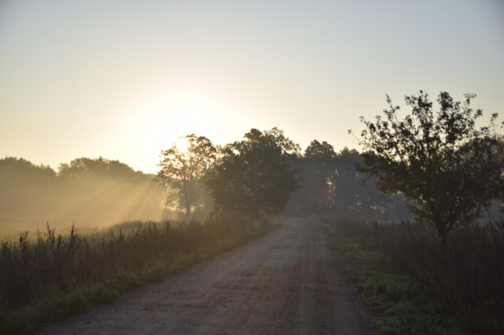 wschód słońca w Dolinie Baryczy